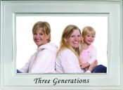 Brushed Silver Three Generations Picture Frame