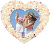 Dainty Flower Heart Picture Frame
