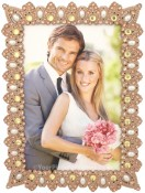 Sidewalk Pink Jeweled Picture Frame