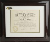 Hampton Wood Archival Matted Diploma Frame