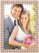 Double Strand Pink Pearls Picture Frame