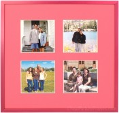 Raspberry Pink Collage Picture Frame