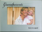 Silver Metal Grandparents Picture Frame