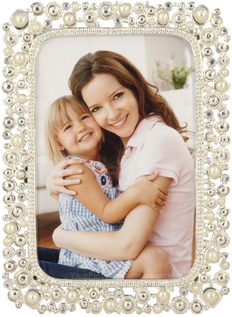 Pearl Jewels Wedding Picture Frame