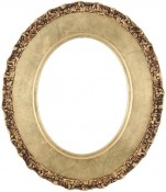 Ella Gold Leaf Oval Picture Frame