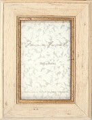 Distressed Gold Leaf White Wash Frame