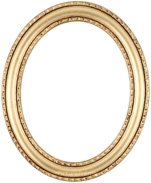 Chloe Gold Leaf Oval Picture Frame