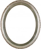Trina Silver Leaf Brown Oval Picture Frame
