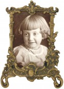 Weathered Antique Brass Picture Frame