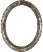 Trina Champagne Silver Oval Picture Frame