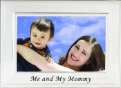 Brushed Silver Me and My Mommy Picture Frame