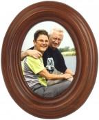 Classic Walnut Oval Frame