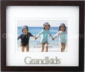 Grandkids Picture Frame with 3 Dimensional Wording