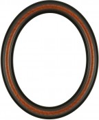 Rissa Vintage Walnut Oval Picture Frame with Gold Lip