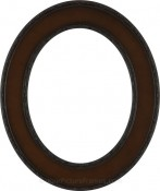 Cora Walnut Oval Picture Frame