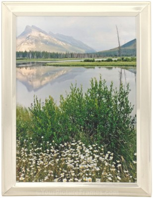 Brushed And Shiny Silver Picture Frame