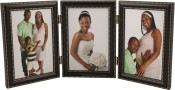 Oil Rubbed Bronze Metal Triple Picture Frame