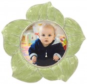 Green Dahlia Flower Picture Frame