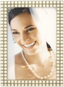 Double Strand of Pearls Picture Frame