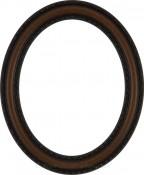 Melinda Vintage Walnut Oval Picture Frame