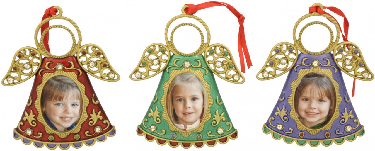 Christmas Angels Photo Frame Ornaments