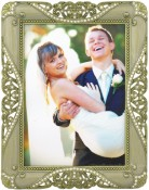 Gold Jeweled Ornate Picture Frame