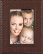 Bronze Basket Weave Picture Frame